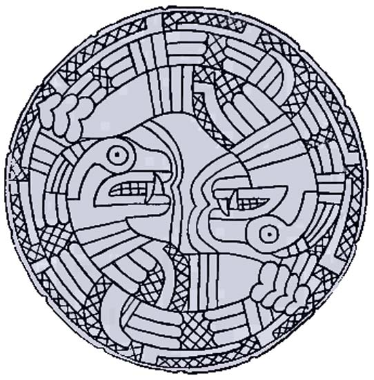 Ancient North American serpent imagery often features rattlesnakes.