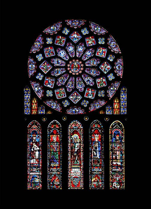Northern rose window of Chartres cathedral.