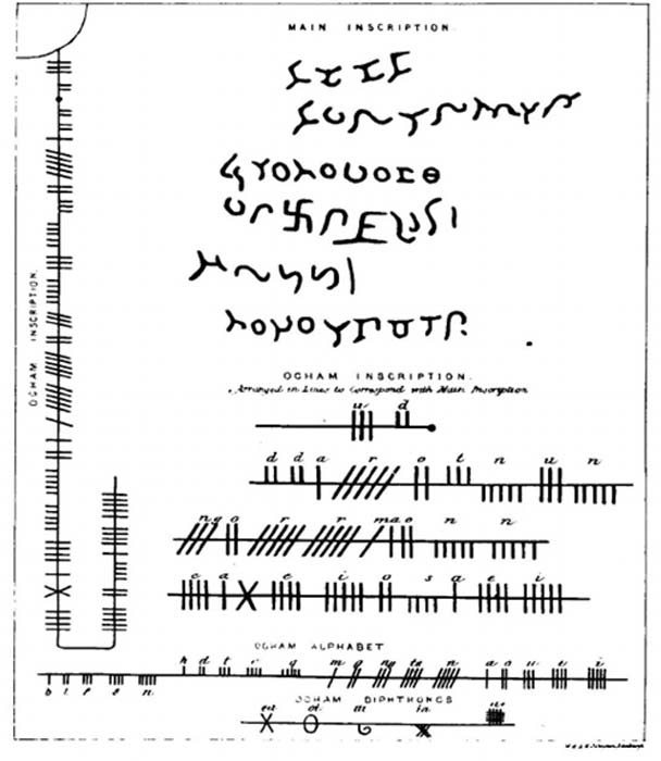 Notes on the Ogham Inscription on Newton Stone. (William Forbes Skene)