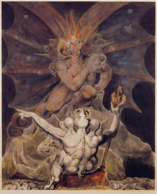 'The Number of the Beast is 666' (1805) by William Blake. (Public Domain)