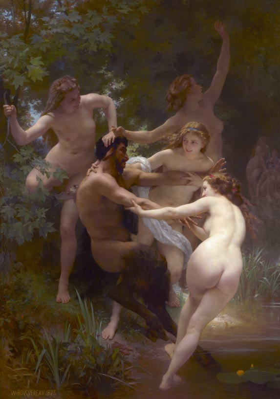 Nymphs and Satyr, an 1873 painting by William-Adolphe Bouguereau