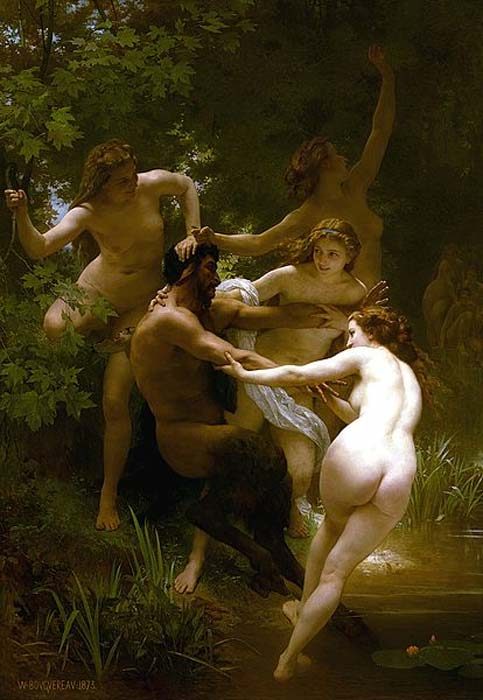 Nymphs and Satyr by William-Adolphe Bougeureau 1873