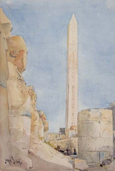 'Obelisk--Karnak in 1900' by Henry Bacon.