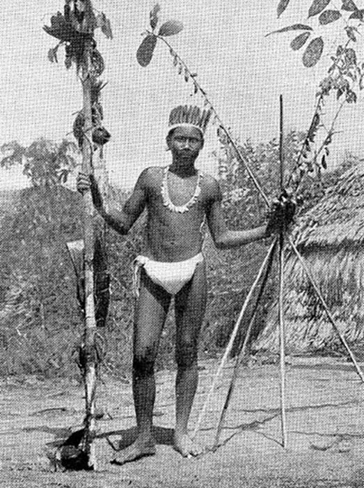 Ocaina chief in 1924, the Ocaina and The Resigaro languages are both in danger of becoming extinct. (Ji-Elle / Public Domain)