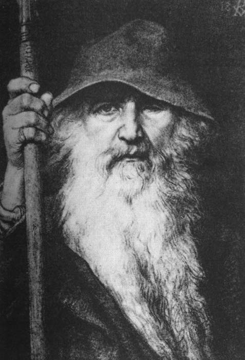 Odin, the Wanderer (1886) by Georg von Rosen (1843–1923).