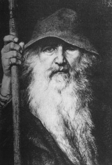 Odin the Wanderer (1896) by Georg von Rosen.