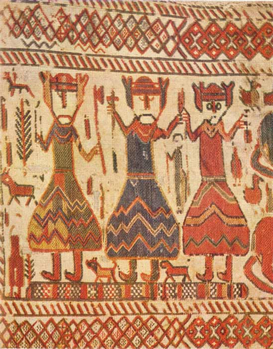 Odin, Thor and Freyr or three Christian kings on the 12th century Skog church tapestry. (Public Domain)