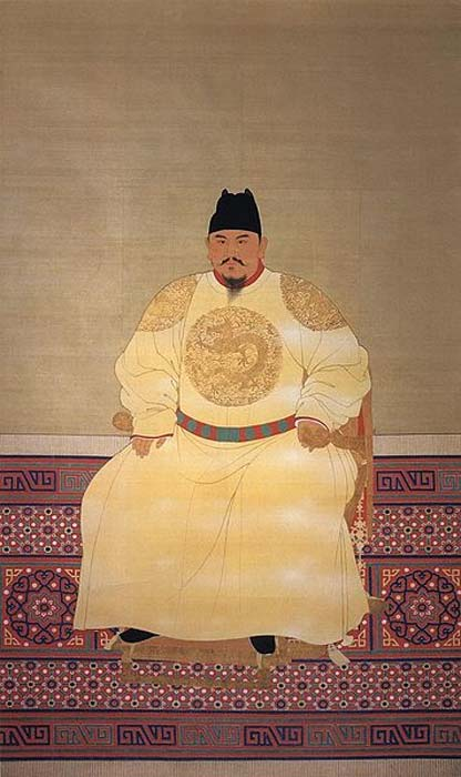 Official court painting of the Hongwu Emperor (Zhu Yuanzhang), reigned 1368-1398 AD, Ming Dynasty, China