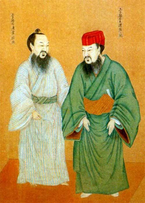 The dress of Oji and Aji in Ryukyu Kingdom.
