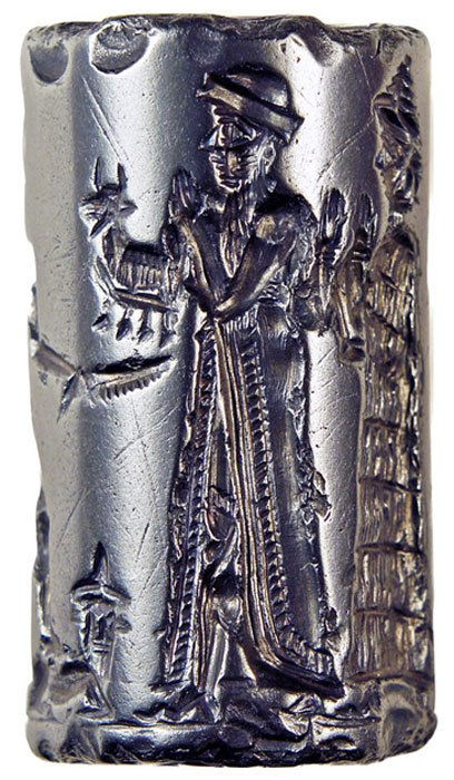 Old Babylonian cylinder seal, 1800 BC. (Hjaltland Collection / CC BY-SA 3.0)