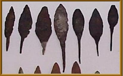 "North American Old Copper ""rattail"" points, courtesy of copperculture.homestead.com"
