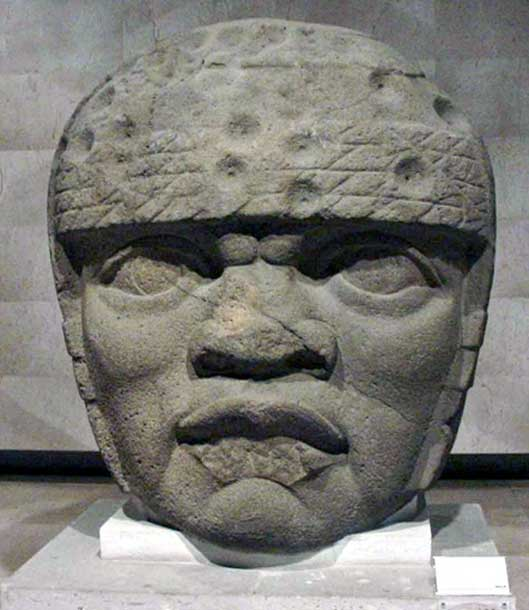 A Olmec Colossal Head found buried and defaced near San Lorenzo, Mexcico (Pre- 900 BC)