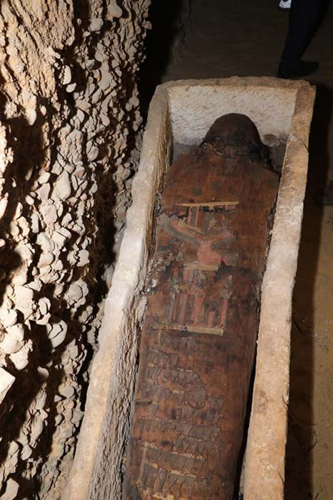 One of the more decorative mummies discovered in the tomb complex
