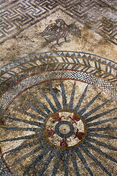One of the mosaics had in one corner an eagle—a symbol of ancient Rome and many other regimes around the world through history.