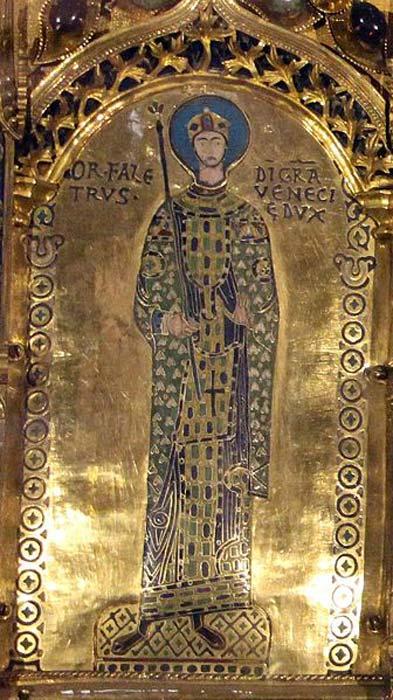 Doge Ordelafo Faliero, from Pala d'Oro, of the Basilica di San Marco in Venice. (Sailko/CC BY-SA 3.0)