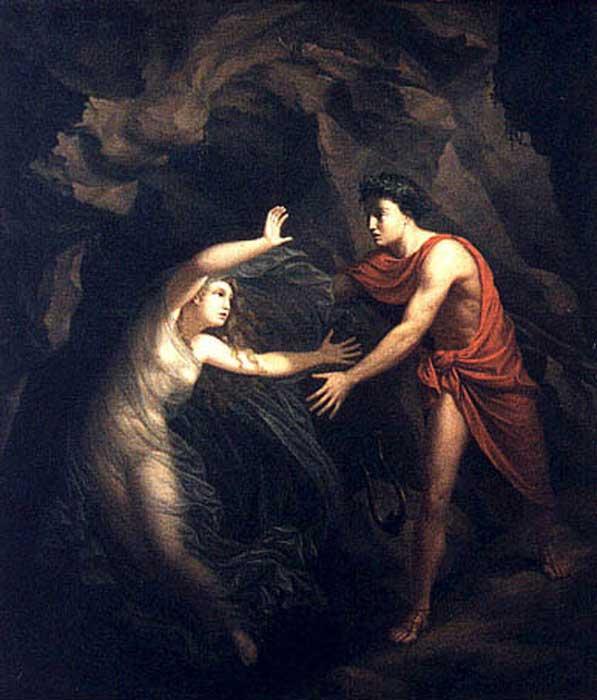 'Orpheus and Eurydice' (1806) by Christian Gottlieb Kratzenstein-Stub.