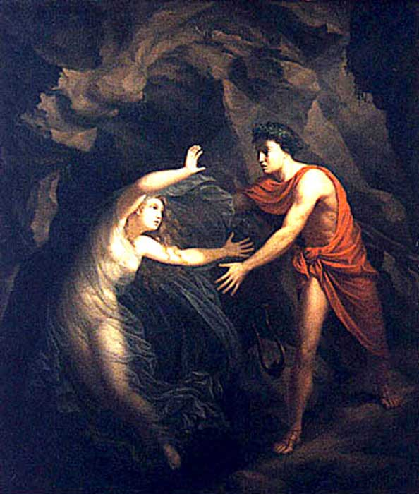 Orpheus and Eurydice try to escape Hades and the Underworld. (Anne-Sophie Ofrim / Public Domain)