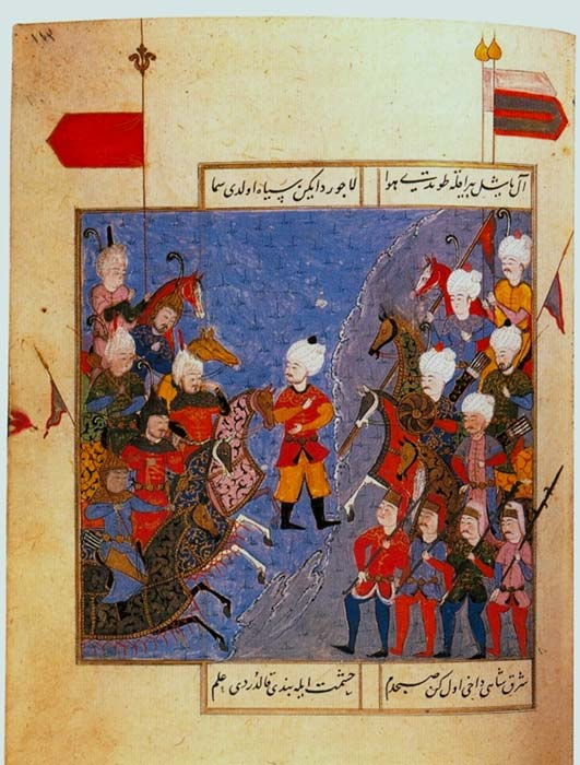 16th-century Ottoman miniature of the Battle of Chaldiran.