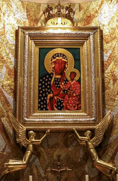 'Our Lady of Czestochowa', A replica of the icon of Our Lady of Czestochowa, in the Polish chapel in the Basilica of the National Shrine of the Immaculate Conception, Washington DC. (CC BY-NC-ND 2.0)