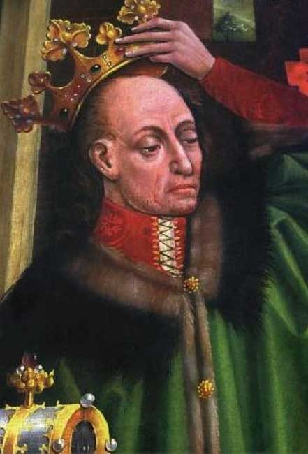 King Władysław II Jagiełło, detail of the Triptych of Our Lady of Sorrows in the Wawel Cathedral.