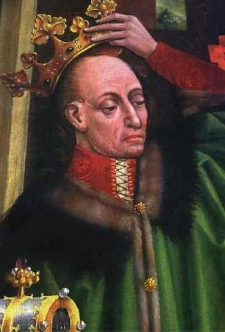 King Władysław II Jagiełło, detail of the Triptych of Our Lady of Sorrows in the Wawel Cathedral.