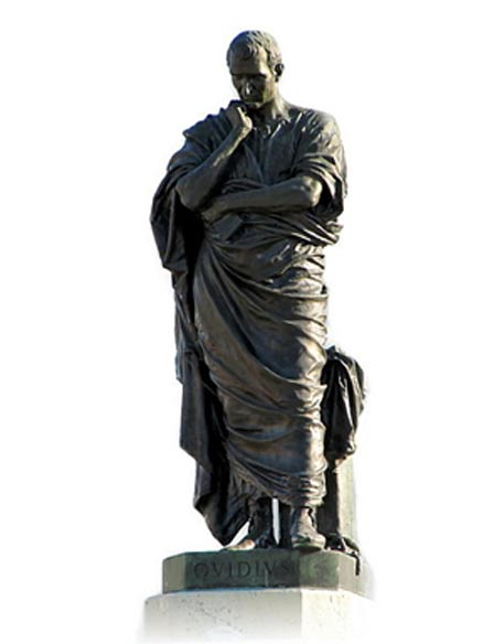 Monument of Ovid by Ettore Ferrari.