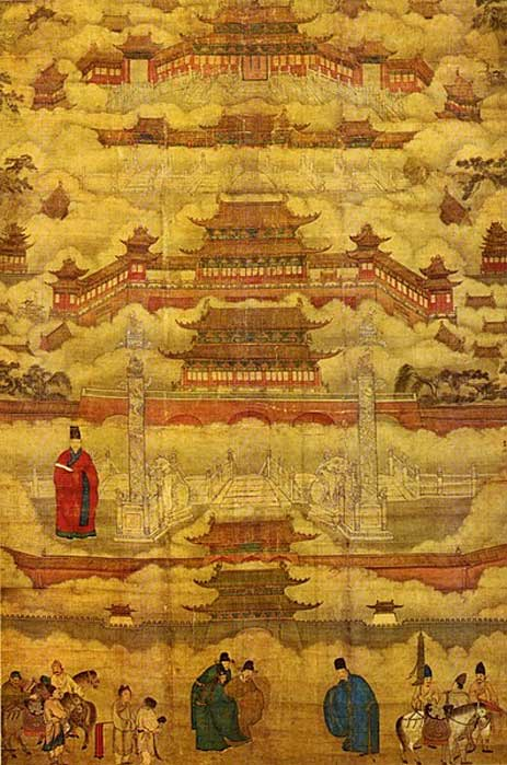 Painted in the mid-Ming Dynasty (c. 15th century), depicting figures including the chief architects of the Forbidden City. (Public Domain) It would take almost 7 Forbidden Cities to fill the area occupied by the Weiyang Palace.