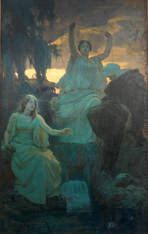 Painting, The Norns, 1895.
