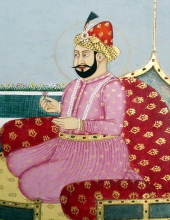 Painting of Humayun of India. 18th Century.
