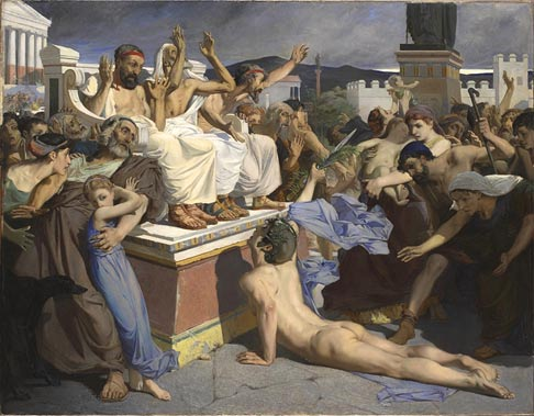 Painting of Pheidippides - Marathon