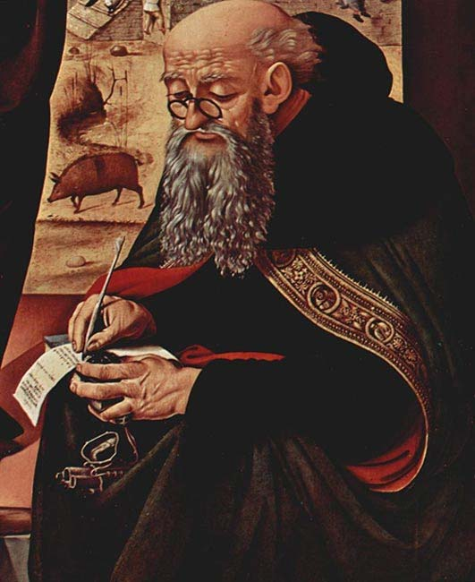Painting of Saint Anthony by Piero di Cosimo, c. 1480.