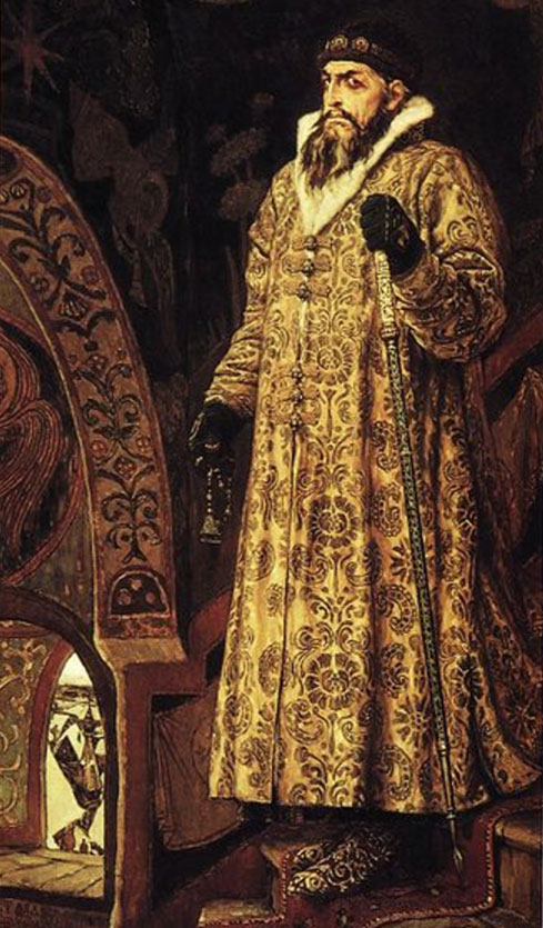 Painting of Tsar Ivan the Terrible.  By Viktor Vasnetsov, 1897.
