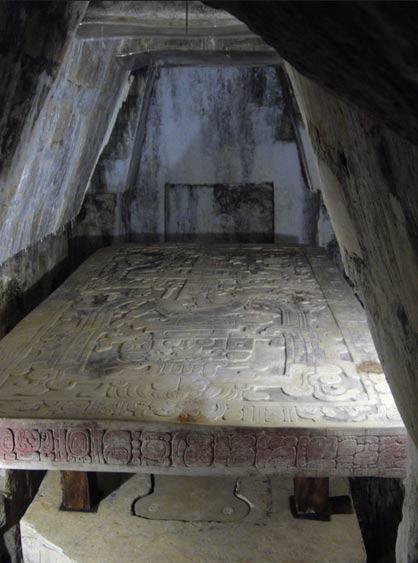 Pakal's sarcophagus chamber