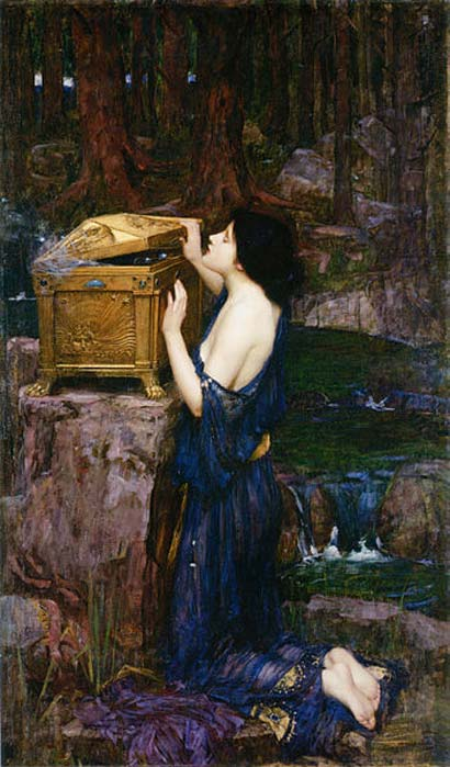 Pandora' by John William Waterhouse, 1896.
