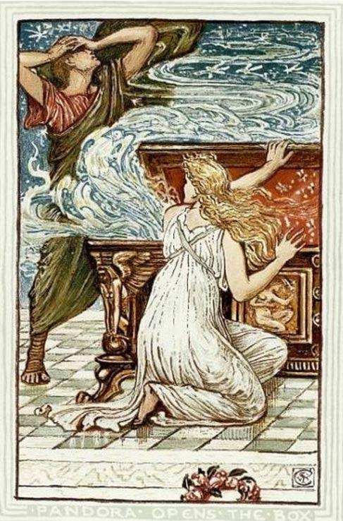 'Pandora Opens the Box' by Walter Crane