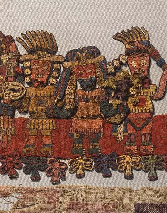 Detail of a Paracas textile found in the necropolis in the 1920s.