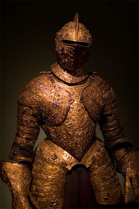 Parade Armor of Henry II of France, Museum of Ethnology, Vienna.