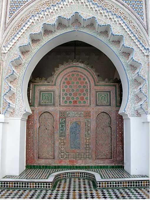 Part of the University of Al- Qarawiyyin in the city of Fes, Morocco.