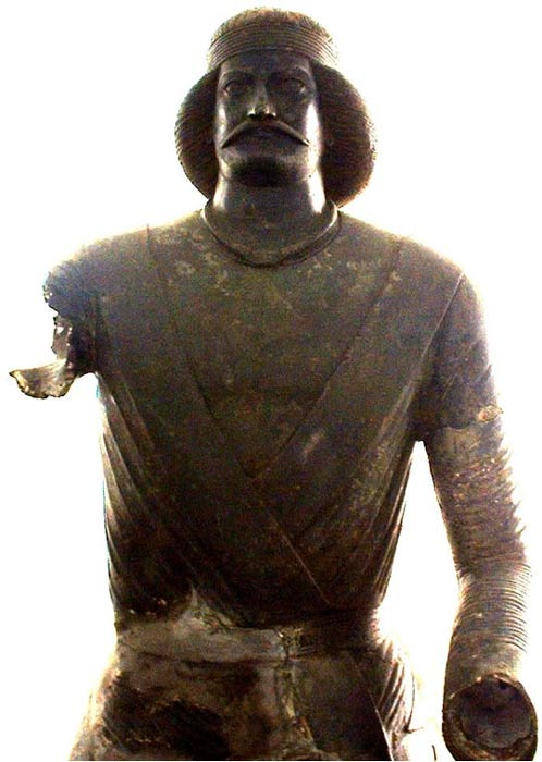 "Parthian bronze statue, attributed to Surena, Parthian spahbed (""General"" or ""Commander"")."