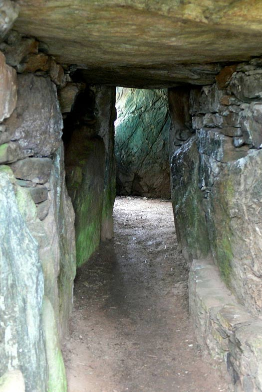 Passageway to interior, Bryn Celli Ddu, Wales.