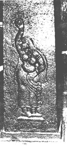 Possible image of Pattini from pillar inside the temple.