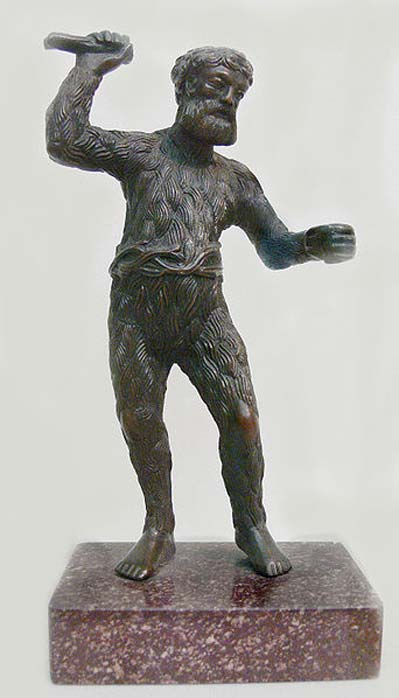 Paulus Vischer (c. 1498-1531): Wild Man, c. 1521/22, bronze. Skulpturensammlung (inv. no. 8403, acquired in 1929), Bode-Museum, Berlin