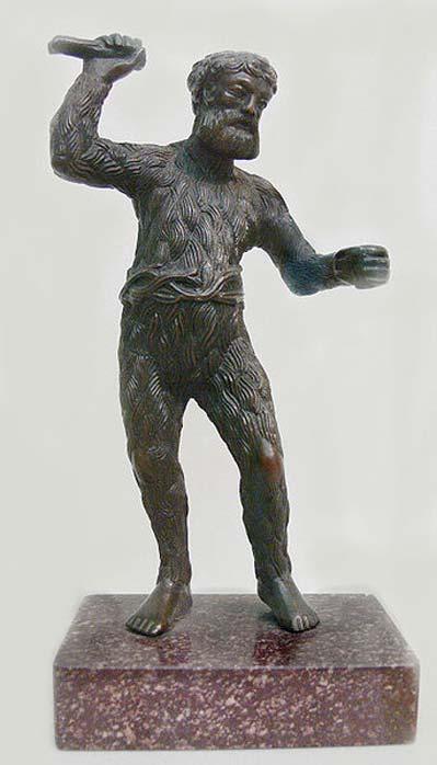 Paulus Vischer (c. 1498-1531): Wild Man, c. 1521/22, bronze. Skulpturensammlung (inv. no. 8403, acquired in 1929), Bode-Museum, Berlin