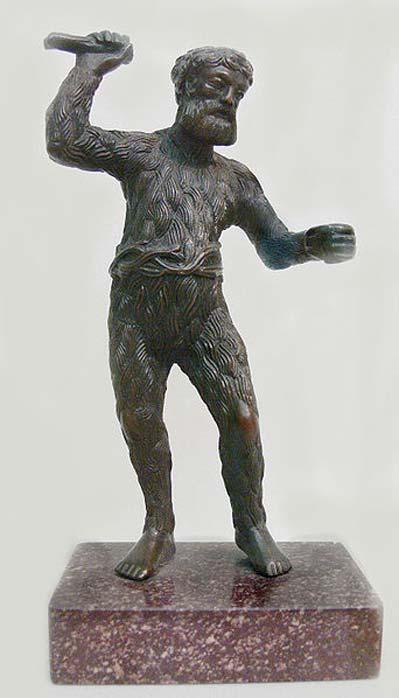 Paulus Vischer (c. 1498-1531): Wild Man, c. 1521/22, bronze. Skulpturensammlung (inv. no. 8403, acquired in 1929), Bode-Museum, Berlin.