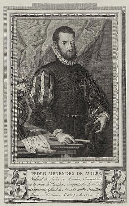 Spanish admiral Pedro Menéndez de Avilés (1519-1574) by Francisco de Paula Martí (1762-1827)