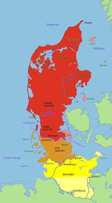 Peninsula of Jutland, place where the mummy was found.
