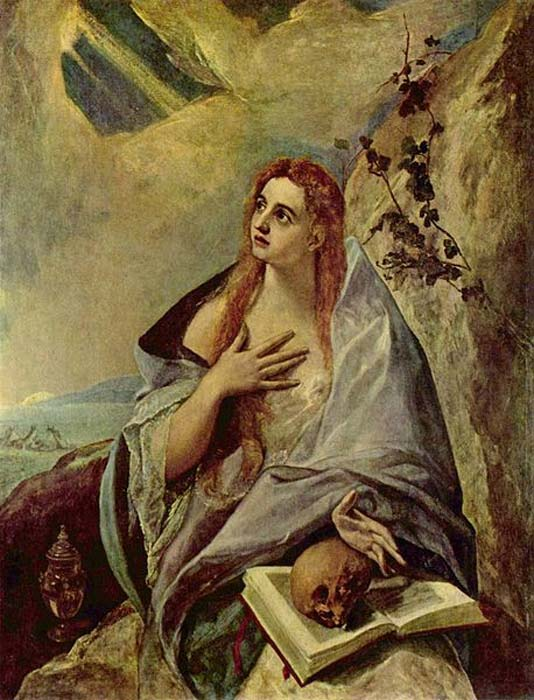 'The Penitent Mary Magdalene' (1576-1578) By El Greco.