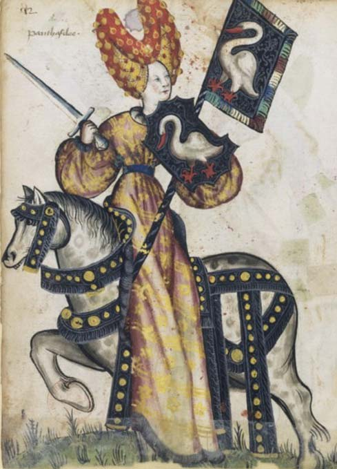 Penthesilea as one of the Lady Worthies.