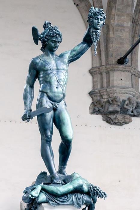 Perseus with the head of Medusa, Benvenuto Cellini (1554)