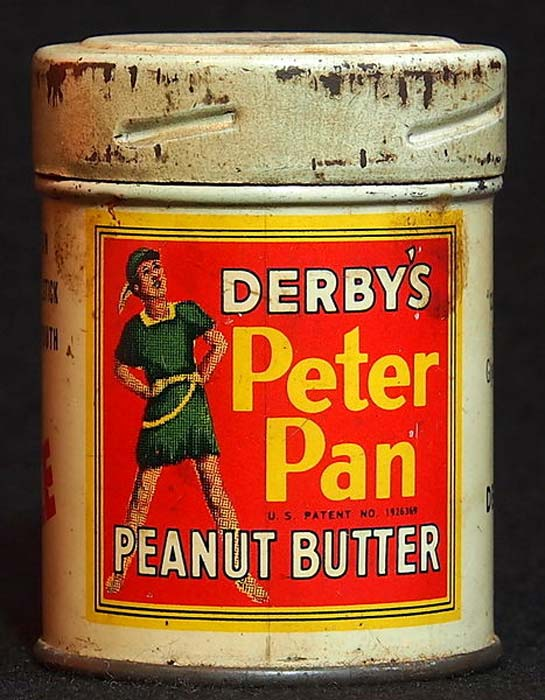 Peter Pan Peanut Butter, old brand in an old can